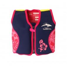 Плавательный жилет Konfidence Original Jacket, Цвет: Navy/Pink/Hibiscus, L/ 6-7 г (KJ05-B-07)