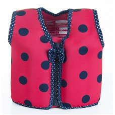 Плавательный жилет Konfidence Original Jacket, Цвет: Ladybird Polka, M/ 4-5 г (KJ05-C-05)
