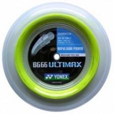 Струна для бадминтона Yonex BG-66 Ultimax 200m Yellow, White