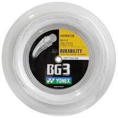 Струна для бадминтона Yonex BG-3 200m White