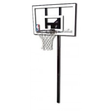 Баскетбольная стойка Spalding Silver 44 Rectangle Polycarbonate
