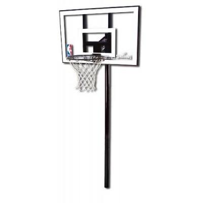 Баскетбольная стойка Spalding Silver 44 Rectangle Polycarbonate