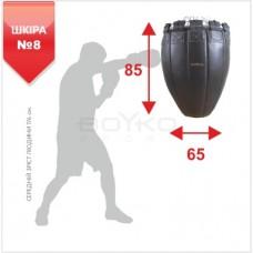 """Груша боксерська BS - перевернута №8, шкіряна, 87х64,4см на 6 ланцюгах М6 з обертовим диском"""""""