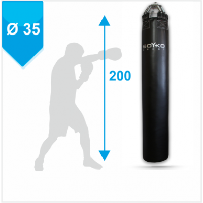 Мешок боксерский Boyko из ткани ПВХ с узлом крепления на 8 цепях 200х35, 50-80