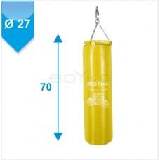 """Мішок боксерський """" ЮНІОР"""" ПВХ з вузлом кріплення на ланцюгах (р.70*27см) жовтий"""""""
