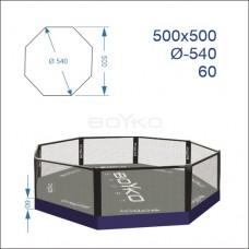 """Восьмикутник (клітка ММА) BS - комбінований на помості рингу 0,6м, 5х5м, діагональ 5,4м"""""""
