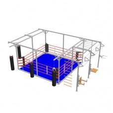 """Ринг боксерський BS - підлоговий, тренувальний, у кубі, з кросвіт зоною, 5х5м, канати 4,5х4,5м"""""""