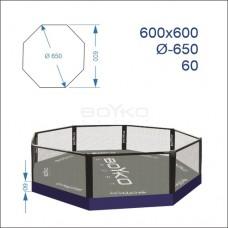 """Восьмикутник (клітка ММА) BS - комбінований на помості рингу 0,6м, 6х6м, діагональ 6,5м"""""""