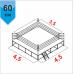 Боксерский ринг Boyko КЛУБНЫЙ помост 4,5х4,5х0,6 м. канаты 3,5х3,5 м - Фото №2