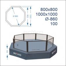 """Восьмикутник (клітка ММА) BS - поміст 1м, 8х8м, діагональ 8,6м, з обв'язуючим помістом 10х10м,"""""""