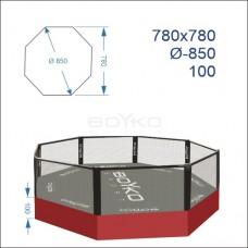 """Восьмикутник (клітка ММА) BS - комбінований на помості рингу 1м, 7,8х7,8м, діагональ 8,5м"""""""