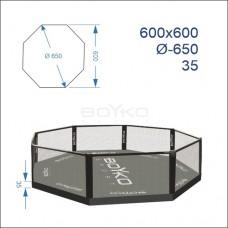 """Восьмикутник (клітка ММА) BS - поміст 0,35м, 6х6м, діагональ 6,5м"""""""