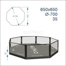 """Восьмикутник (клітка ММА) BS - поміст 0,35м, 6,5х6,5м, діагональ 7м"""""""