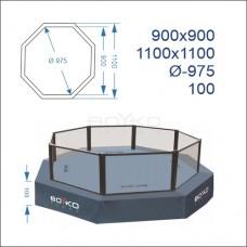 """Восьмикутник (клітка ММА) BS - поміст 1м, 9х9м, діагональ 9,75м, з обв'язуючим помостом 11х11м"""""""