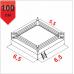Боксерский ринг Boyko ПРОФЕССИОНАЛЬНЫЙ помост 6,5х6,5х1м. канаты 5,5х5,5м - Фото №1
