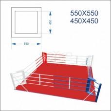 """Ринг боксерський BS - підлоговий, тренувальний, 5,5х5,5м, канати 4,5х4,5м"""""""