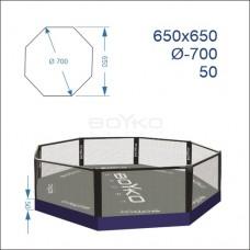 """Восьмикутник (клітка ММА) BS - поміст 0,5м, 6,5х6,5м, діагональ 7м"""""""