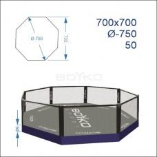 """Восьмикутник (клітка ММА) BS - поміст 0,5м, 7х7м, діагональ 7,5м"""""""