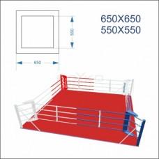 """Ринг боксерський BS - підлоговий, тренувальний, 6,5х6,5м, канати 5,5х5,5м"""""""