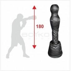 """Тренажер BS підлоговий - """" Манекен для боксу СИЛУЕТ"""" шкіряний 180*55 на стійці"""""""