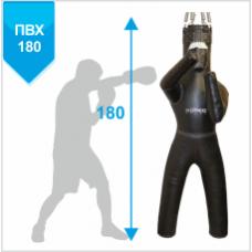 Манекен Boyko для бокса с ногами с узлом крепления на 6 пружинах ЛЕВЫЙ ПВХ 180х55, 50-60