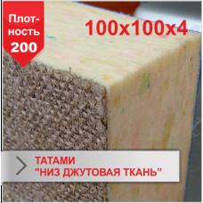 "Мат Татами Boyko ""низ джутовая ткань"" JUDO 4 х 100 х 100 пл.200"
