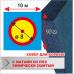 Ковер для борьбы Boyko трехцветный с контактной лентой (велкро) 10х10 маты ППЭ хим.сшитого 5*100*200см