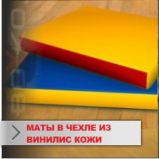 Мат Boyko спортивный в чехле из винилискожи(ЭКОКОЖА-ЛИРА)10х100х100