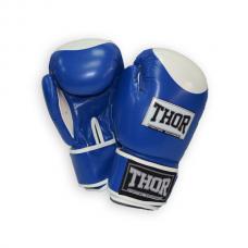 Перчатки боксерские THOR COMPETITION 10oz /PU /сине-белые 500/02(PU) BLUE/WHITE 10 oz.