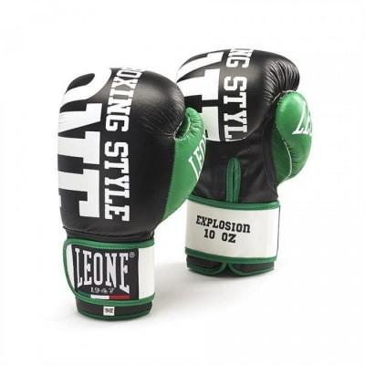 Боксерские перчатки Leone Explosion Black (10 oz)
