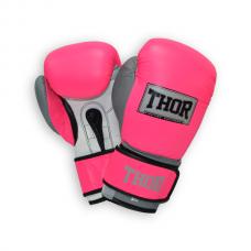 Перчатки боксерские THOR TYPHOON 14oz /PU /розово-бело-серые 8027/02(PU) Pink/Grey/W 14 oz.
