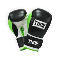 Перчатки боксерские THOR TYPHOON 14oz /PU /черно-зелено-белые 8027/01(PU) B/GR/W 14 oz.