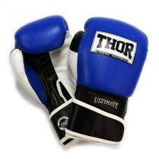 Перчатки боксерские THOR ULTIMATE 14oz /PU /сине-черно-белые 551/03(PU) B/BL/WH 14 oz.