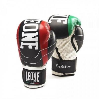Боксерские перчатки Leone Revolution Black (10 oz)