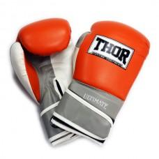 Перчатки боксерские THOR ULTIMATE 16oz /PU /оранжево-бело-серые 551/04(PU) OR/GR/WH 16 oz.