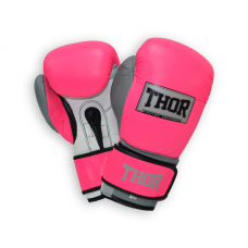 Перчатки боксерские THOR TYPHOON 16oz /PU /розово-бело-серые 8027/02(PU) Pink/Grey/W 16 oz.