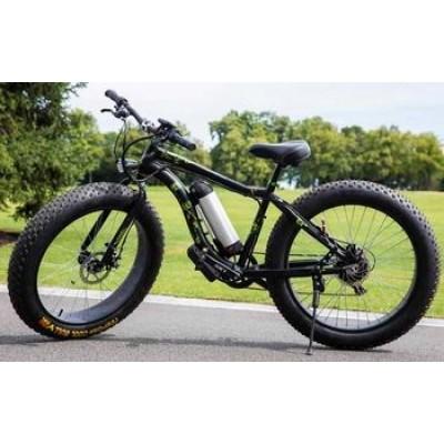 Электровелосипед LKS FATBIKE Electro Rear Drive (500W) (черно-зеленый)