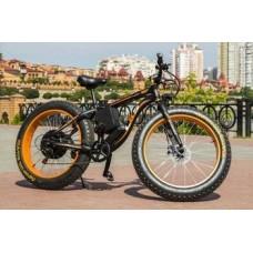 Электровелосипед LKS FATBIKE Electro Rear Drive (500W) (черно-оранжевый)