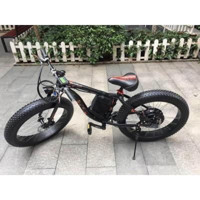 Электровелосипед LKS FATBIKE Electro Rear Drive (черно-красный) (500W)
