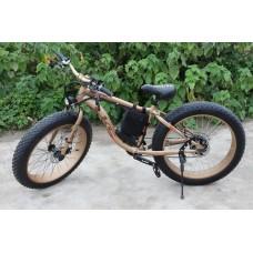 Электровелосипед LKS FATBIKE Electro Rear Drive (золотой)
