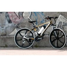 Электровелосипед Porshe Electrobike RD (черно-желтый с белыми колесами)