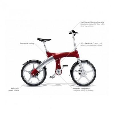 Электровелосипед G2 Mando Footloose (красный)