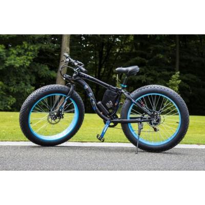 Электровелосипед LKS FATBIKE Electro Rear Drive (черно-голубой)