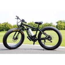 Электровелосипед LKS FATBIKE Electro Rear Drive (черно-зеленый)