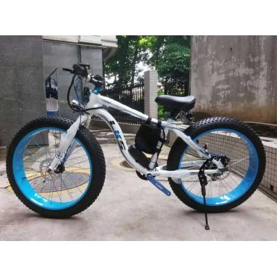 Электровелосипед LKS FATBIKE Electro Rear Drive (бело-голубой)