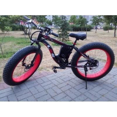 Электровелосипед LKS FATBIKE Electro Rear Drive (черно-красный)