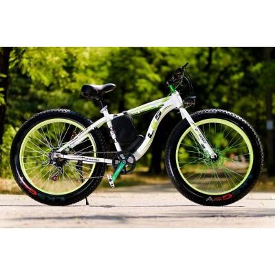 Электровелосипед LKS FATBIKE Electro Rear Drive (бело-зеленый)