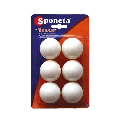 Шарики для настольного тениса SPONETA 1 star