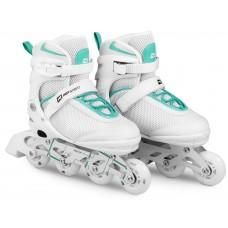 Роликовые коньки 3в1 Hop-Sport HS-903 Motion S (размер) Бело-мятные