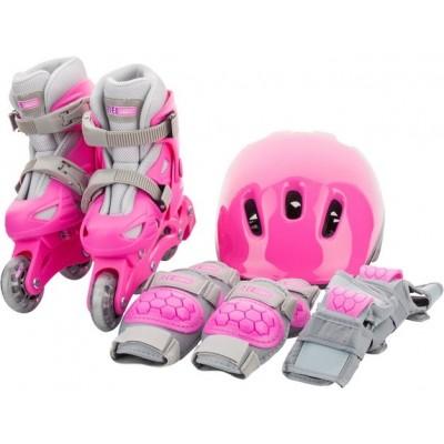 Набор для девочек Re:action: роликовые коньки, шлем, защитная экипировка CMB16GX232